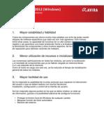 Avira 2012 ReleaseInformation ES