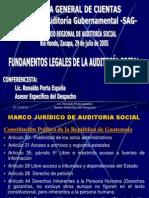 Fundamentos Legales de La Auditoria Social