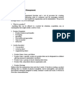 17045977 Product and Brand Management a Concise Note on Everything About Product and Brand Management