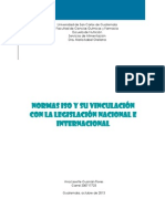 NORMAS ISO Y SU VINCULACIÓN CON LA LEGISLACION NACIONAL E INTERNACIONAL