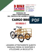 Manuale Cargo Bike Triciclo Lavoro Carico Titan 170 Armabile Fuerza7 Italiano