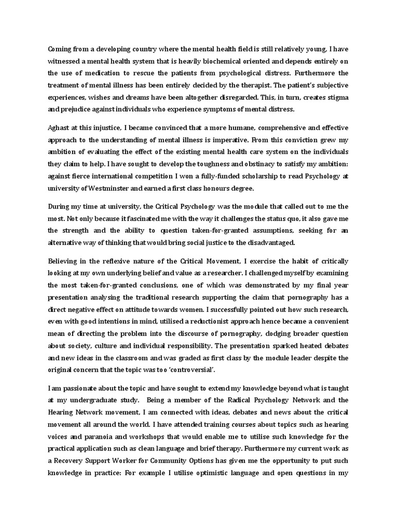 Child abuse personal essay