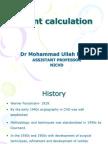 Shunt calculation, NICVD