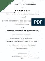 A Legislative Investigation Into Masonry - b Hallett