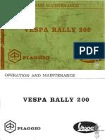 VESPA RALLY 200 manual