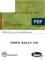Use and maintenance manual vespa 200 rally | vespatime.