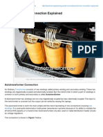 Electrical Engineering Portal.com Autotransformer Connection Explained