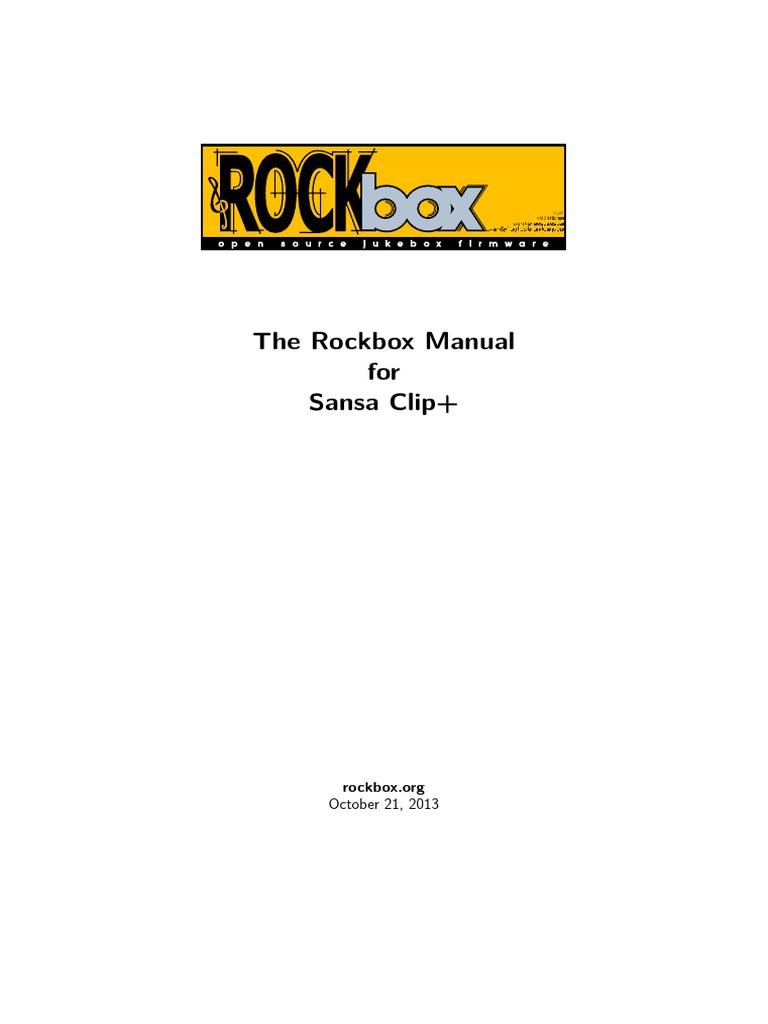 the rockbox manual for sansa clip installation computer programs rh scribd com SanDisk Sansa Software SanDisk Sansa M250
