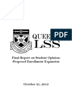 LSS Final Report on Student Opinion - Proposed Enrollment Expansion