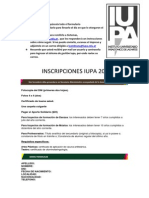 Formulario de Inscripcion en Word 2007