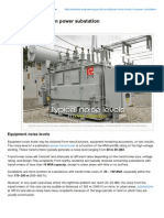 Electrical-Engineering-portal.com-Typical Noise Levels in Power Substation
