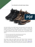 Bagaiman Cara Memilih Dan Membeli Sepatu Hiking