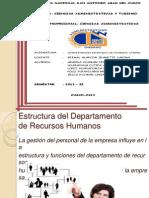 Estructura Del Dep. de RR.hh