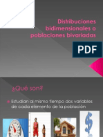 Distribuciones Bidimensionales o Poblaciones Bivariadas