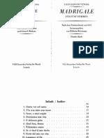 Gesualdo - Madrigals Book 5 Edition Weissmann