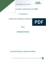 Unidad 1.Fundamentos de La Investigacion de Mercados Estudios de Mercado