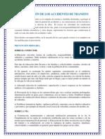 PREVENCIÓN DE LOS ACCIDENTES DE TRANSITO