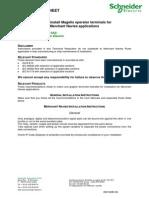 Schneider Electric Magelis XBGT5330 Hoja de Instrucciones