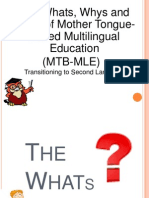 transitioning to second language.ppt