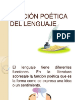 FUNCIÓN POÉTICA DEL LENGUAJE