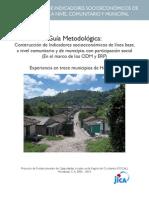 1. Gua Metodolgica Construccin de Indicadores Socioeonmicos de Lnea Base