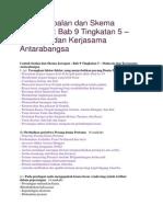 Contoh Soalan Dan Skema Jawapan Sejarah Kertas 3 Bab 9