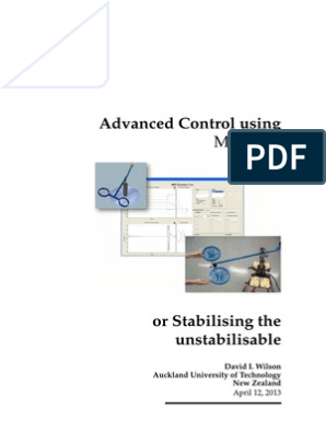 Advanced Control using MATLAB | Control Theory | Applied