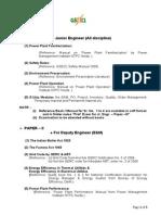 Revised Syllabus for de JE Prof.exam