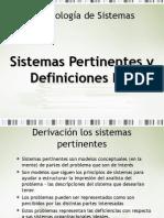 Sistemas Pertinentes y DR