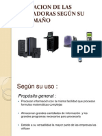CLASIFICACION DE LAS COMPUTADORAS SEGÚN SU USO Y