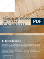 PLANTA DE PRODUCCIÓN DE CINTAS AUTODHESIVAS