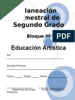 2do Grado - Bloque III - Educación Artística