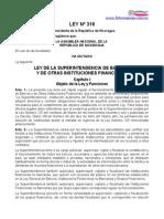 Ley Nº 316, Ley de Superintendencias de Bancos y De Otras Instituciones financieras