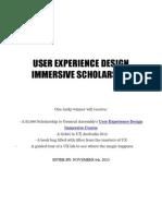 GA UXDI Course Scholarship T&C