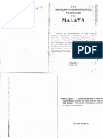 The People's Constitutional Proposal for Malaya (1947)