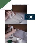 Un paso a paso de cómo forrar un jarrón de vidrio con papel arroz