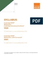 Maths 2014 Syllabus