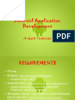Android App Development - A Short Tutorial