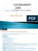 Government Jobs India 30th oct to 15 nov