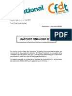 CFDT Rapport Financier 2010