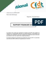 CFDT Rapport Financier 2010