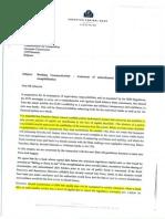 Carta de Draghi a Bruselas donde pide recapitalizaciones preventivas