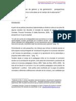 Alejandro Marcelo Villa,  Cuerpo, relaciones de género y de generación