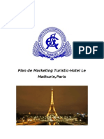 Plan de Marketing Turistic - Hotel Le Mathurin Paris
