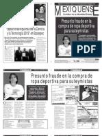 Versión impresa del periódico El mexiquense  22 octubre 2013