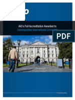IAO awards full accreditation to Cosmopolitan University