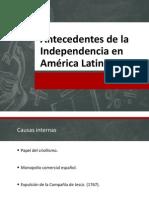 Antecedentes de la Independencia en América Latina