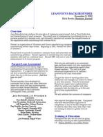 6.Lean Focus Backgrounder