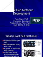 Coal Bed Methane Development (Tom Myers)