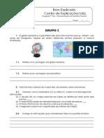 A.2 - Teste Diagnóstico - Representações da Superfície Terrestre (1)